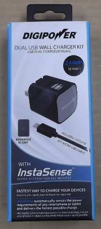 Image of: Digipower Wall & Car Charger Kit