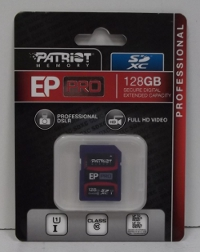 Image of: Patriot 128gb SDXC